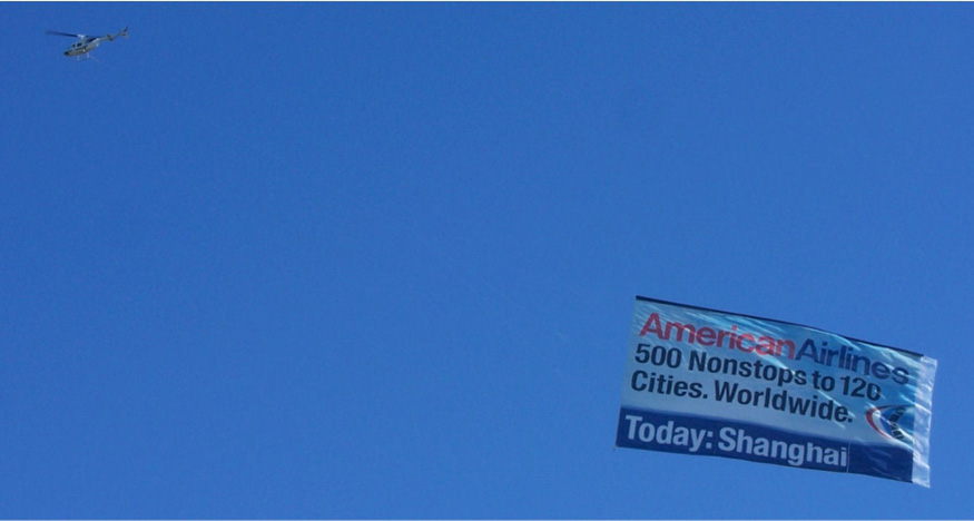 Helicopter Banner Advertising in and near Houston Texas