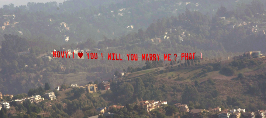 Personal Messages In the Sky in and near San Fransisco California