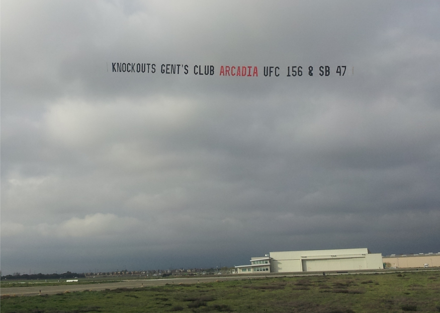 Race Track Aerial Advertising in and near San Fransisco California