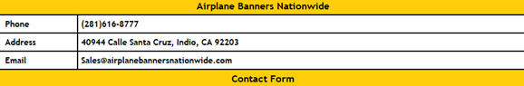 Contact Airplane Banners Nationwide